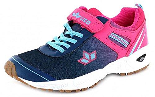 Lico 360582, Scarpe indoor multisport bambine marine/pink/türkis
