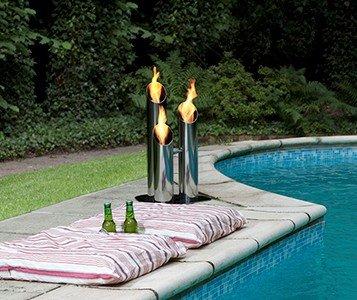 Bio Blaze Small Pipes Bio Ethanol Fireplace outdoor