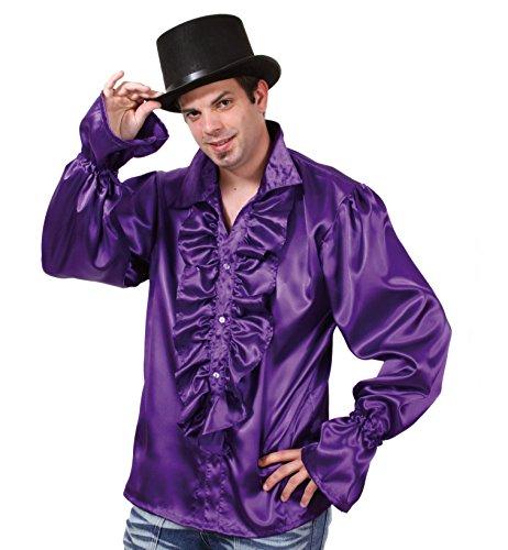 Gurimo-Tex 119481 - Rüschen-Hemd Kostüm, lila