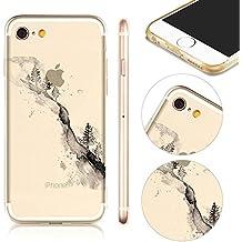 MOMDAD iPhone 5S Coque Ultra Fine Luxe TPU Resistante Case Cover Pour iPhone SE Transparent Coque iPhone 5 5S SE TPU Silicone Etui Coque de Protection en TPU avec Absorption de Choc Bumper et Anti-Scratch Hull Couverture
