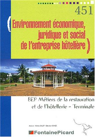 Environnement économique, juridique et social de l'entreprise hôtelière Tle BEP restauration et hôtellerie