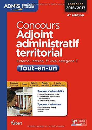 Concours Adjoint administratif territorial - Catégorie C - Tout-en-un - Concours 2016-2017