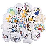 YAHAMA Möbelknöpfe 10er Set Schrankgriffe Kinderzimmer Möbelknöpfe Weiß Keramik