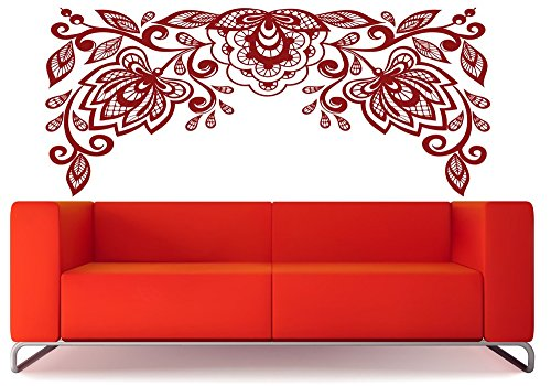 Wandaufkleber Schlafzimmer Diy Removable Vinyl Decal Mural Letter Wall Sticker Very Beautiful Floral Pattern Embroidery Cutwork