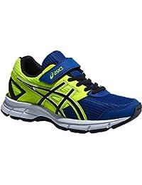 Asics Pre Galaxy 8 PS - Zapatillas de running para niño, color azul / amarillo / blanco / negro