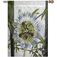Kotdeqay Forest Polyester House Garden Flag Banner 28 x 40 Inch,Spring Flower Decorative Flag for Wedding Home Outdoor L4