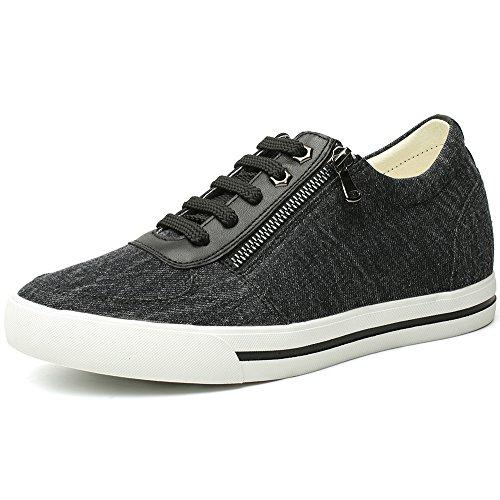 CHAMARIPA Canvas Scarpe da Ginnastica con Rialzo Interno Sneaker a Collo Alto Uomo Fino a 6 cm - L81C08D262D