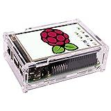 Quimat Touch Screen for Raspberry Pi 3 Kit, 3,5'' Zoll Inch Touch Schirm Monitor 320*480 Auflösung TFT LCD Display mit Schutzkoffer mit 3x Kühlkörper + Touch Pen for Raspberry Pi 3 Model B, Pi 2 Model B & Pi Model B+ QSC