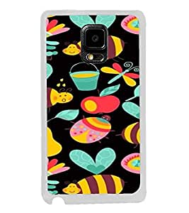 ifasho Animated Pattern colrful flower and butterfly Back Case Cover for Samsung Galaxy Note 4 Edge