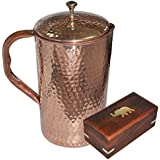 DakshCraft High Quality Pure Copper Jug with Lid for Health Benefits