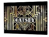 The Great Gatsby, Format: 80x60 Bild auf Leinwand gespannt, Leinwandbild, 1A Qualität zu 100% Made in Germany! Kein Poster Kein Plakat! Echtholzrahmen mit beigelieferten Zackenaufhängern. Fertig bespannt, Sofort dekorieren. Vier verschiedene Formate.