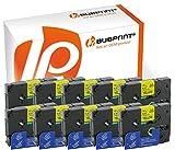 Bubprint 10 Schriftbänder kompatibel für Brother TZE-631 TZE631 für P-Touch 1280 2430PC 2730VP 3600 9500PC 9700PC D400VP D600VP H100LB H105 P700 P750W