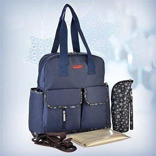 Samber Baby Windel Taschen Rucksäcke Mommy Taschen Frauen Rucksack für Windel Windel Rucksack Blau