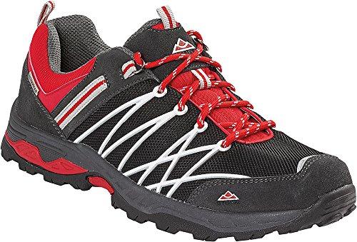 Stubai-Trekking-Schuhe-Herren-Wanderhalbschuhe-fr-den-Outdoor-Bereich-wasserdicht-mit-verschweiten-Nhten-Gren-40-46-Farbe-Schwarz-Rot