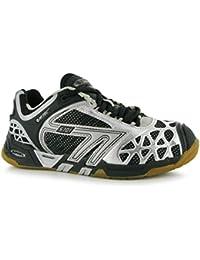 Hi-Tec S7014sys interior corte zapatos para mujer negro/plata Sports Trainers zapatillas deportivas, negro/plata