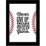 TIED RIBBONS® Motivational Poster For Boys Room With Frame(13.6 Inch X 10.2 Inch)