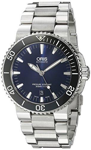 a6013b8374 Oris Aquis de los hombres de 'Swiss automático acero inoxidable reloj de  buceo, color