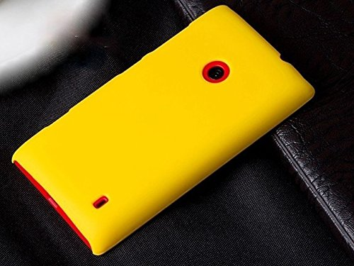 Imagine Rubberised Hard Case Back Cover for NOKIA LUMIA 520 / NOKIA LUMIA 525 - YELLOW  available at amazon for Rs.149