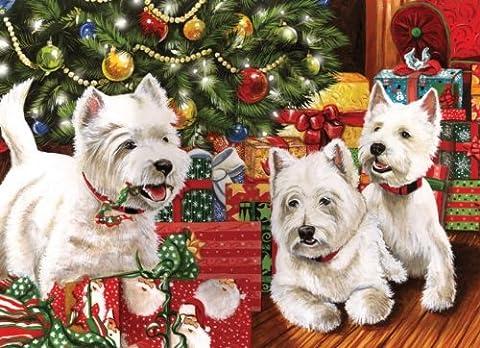 Cobble Hill 51747 - Unter dem Weihnachtsbaum - Puzzle 1000 Teile