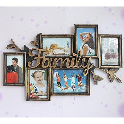 Foto Wand Kombination Bilderrahmen Familie Brief Injektion siamesische Bilderrahmen Wand 7 Zoll 6 Zoll 61 * 39 cm ( Color : Bronze )