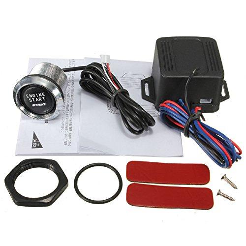 GOZAR Universal Car Motor Start Bouton Poussoir Interrupteur Starter Kit D'Allumage