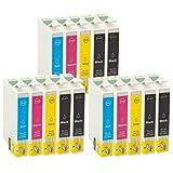 ZR-Printing Ersatz-Tintenpatronen für Espon T1281 kompatibel für Epson Stylus SX125 SX235W SX445W/SX230 EPSON Stylus Office BX305FW Drucker (6schwarz,3gelb, 3cyan, 3magenta)