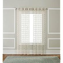 58d09c0ae615 Renaissance Home Fashion Amelia Makramee Tülle Panel, 137,2 x 241,3 cm