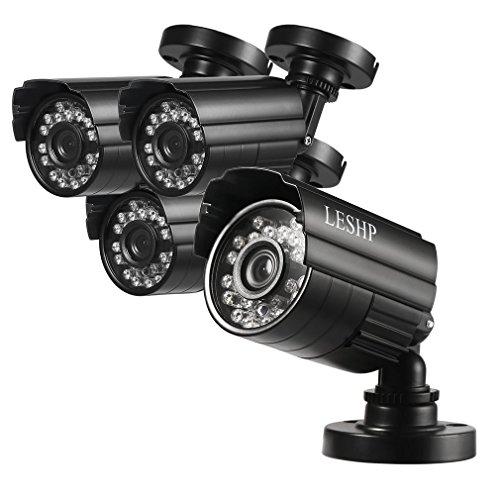 ACEHE 4 Kanal 960P Überwachungskamera Set, Videoüberwachung, Überwachungssystem mit 10.1 inch Monitor und 4 Stück 720P AHD wasserdicht CCTV IP kamera / Bewegungsalarm / Nachtsicht / 1*4T Festplatte