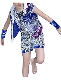 f674999108635 Tenthree Hip Hop Baile Callejero Ropa Niña Vestidos - Niño Tap Dance Jazz  Moda Disfraces Lentejuelas Trajes Conjuntos Chaleco +…