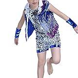 58af53b7d Tenthree Hip Hop Baile Callejero Ropa Niña Vestidos - Niño Tap Dance Jazz  Moda Disfraces Lentejuelas