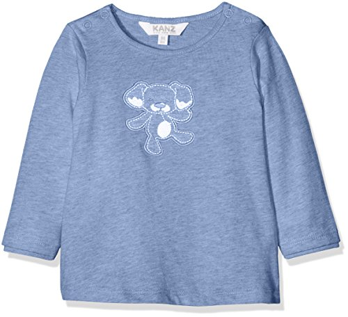 Kanz Kanz Unisex Baby T-Shirt 1/1 Arm, Blau (Moonlight Blue Melange 8026) 56
