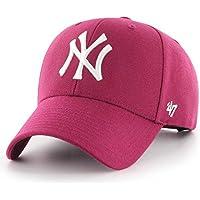 b28bf654c6ac1  47 Gorra Brand – MLB New York Yankees MVP Curved V Struct fit Granate