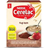 Nestlé CERELAC Fortified Baby Cereal with Milk, Ragi Apple – From 8 Months, 300g BIB Pack