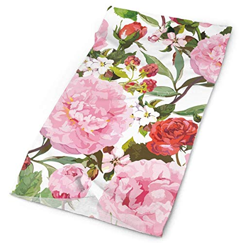 But why miss Paeonia Red Roses Watercolor Flower Outdoors & Daily Headwear,Bandana,Headband,Neck Gaiter,Balaclava,Helmet Liner for Running Riding Skiing Hiking -