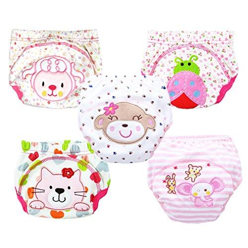 Hikfly Pack von 5pcs Baby Jungen Mädchen Wiederverwendbare Töpfchen Toiletten Töpfchen-Trainer Trainingshose Trainerhosen Windel Unterwäsche Waschbare Windel (100/XL, (Guard Herren Kostüme)