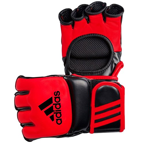 adidas Amateur MMA Fight Gloves, Unisex, Black Red