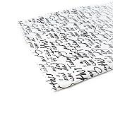 Jersey Stoff gemustert als Meterware |Muster: Schrift|50cm