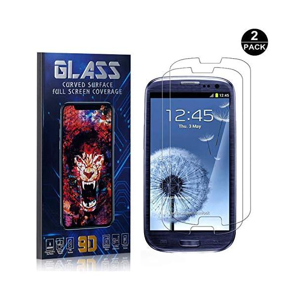 Bear Village® Protector de Pantalla Galaxy S3, 9H Cristal Templado, Anti-Golpe, Transparente Protector de Pantalla para… 1
