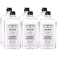 J.R. Watkins Natural Liquid Dish Soap, Lavender, 24 Ounce (Pack of 6)