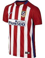 1ª Equipación Atlético de Madrid 2015/2016 - Camiseta oficial Nike para niño, color rojo / blanco / azul, talla M