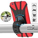 PEYOU Support Téléphone Vélo,Support téléphone Moto de Guidon Rotatif Réglable en Silicone à 360°avec Système A-Vibrations pour 4-6.5'' Smartphones,pour Paniers Moto Poussette et Golf Trolley