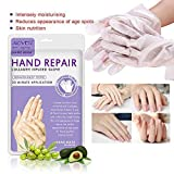 Hand Peel Maske, KOBWA Hand Healing Handschuhe, HAND Maske Spa Handschuhe Feuchtigkeit verbessernde Handschuhe für trockene Hände, Peeling Peeling Maske, Reparatur raue Haut für Männer Frauen