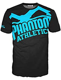 Phantom Athletics - Camiseta de manga corta, color negro y azul Talla:S
