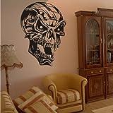 WANDTATTOO / Wandsticker w918 Totenkopf Totenschädel - Schädel / Skull / Bones - Wandaufkleber 40X27 cm schwarz