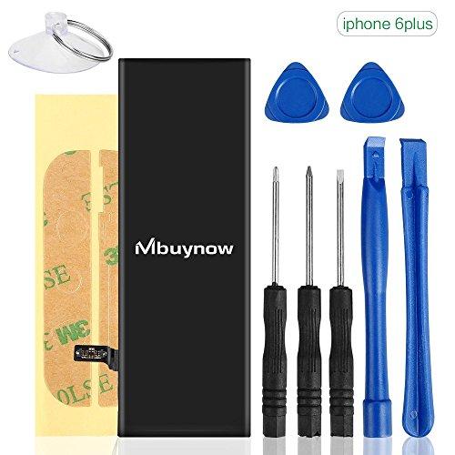 Mbuynow Ersatzakku für iPhone 6 Extra, 2915mAh Battery Replacement Kit Akku Austausch für iPhone 6 Plus Reparaturset Li-Ion Batterie mit Werkzeug und Anleitung