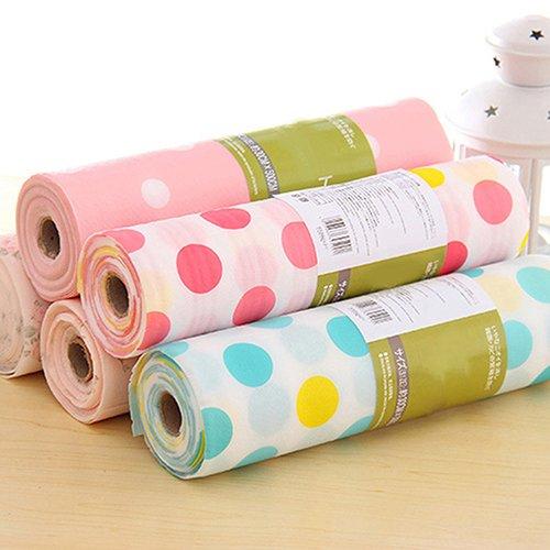 quanjucheer Schrank Schublade Liner, 300cm Cute Polka Dots Schrank Cabinet Regal Küche Matte 300cm x 30cm pink mit punkten