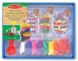 Melissa & Doug Sand Art Bottles Craft Kit with 3 Bottles and 6 Bags of Coloured Sand, Design Tool