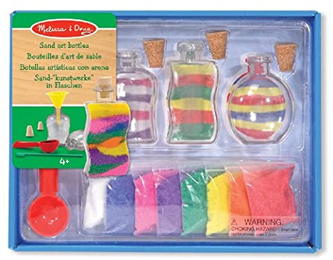 Melissa & Doug Sand Art Bottles Craft Kit: 3 Bottles, 6 Bags of Coloured Sand, Design Tool