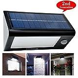 [Upgrade 32 LED]Cozypony 550 Lumen Solarleuchten Solarlampe Solar Wandleuchte Wasserdicht Drahtlos helle Beleuchtung für Wand Garten Zaun Multimode