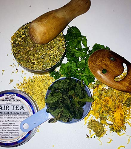 13 HERBS HERBAL DEEP CONDITIONER HAIR TEA RINSE-DETANGLER- TREATMENT FOR DANDRUFF DRY ITCHY SCALP AND HAIR- FOR ALL TYPES OF HAIR- NO CHEMICALS 100% VEGAN - Can be used FOR APPLE CIDER VINEGAR RINSE